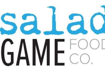 Salad game food co logo