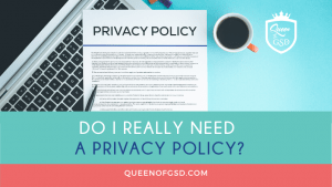 Privacy Policy Needs